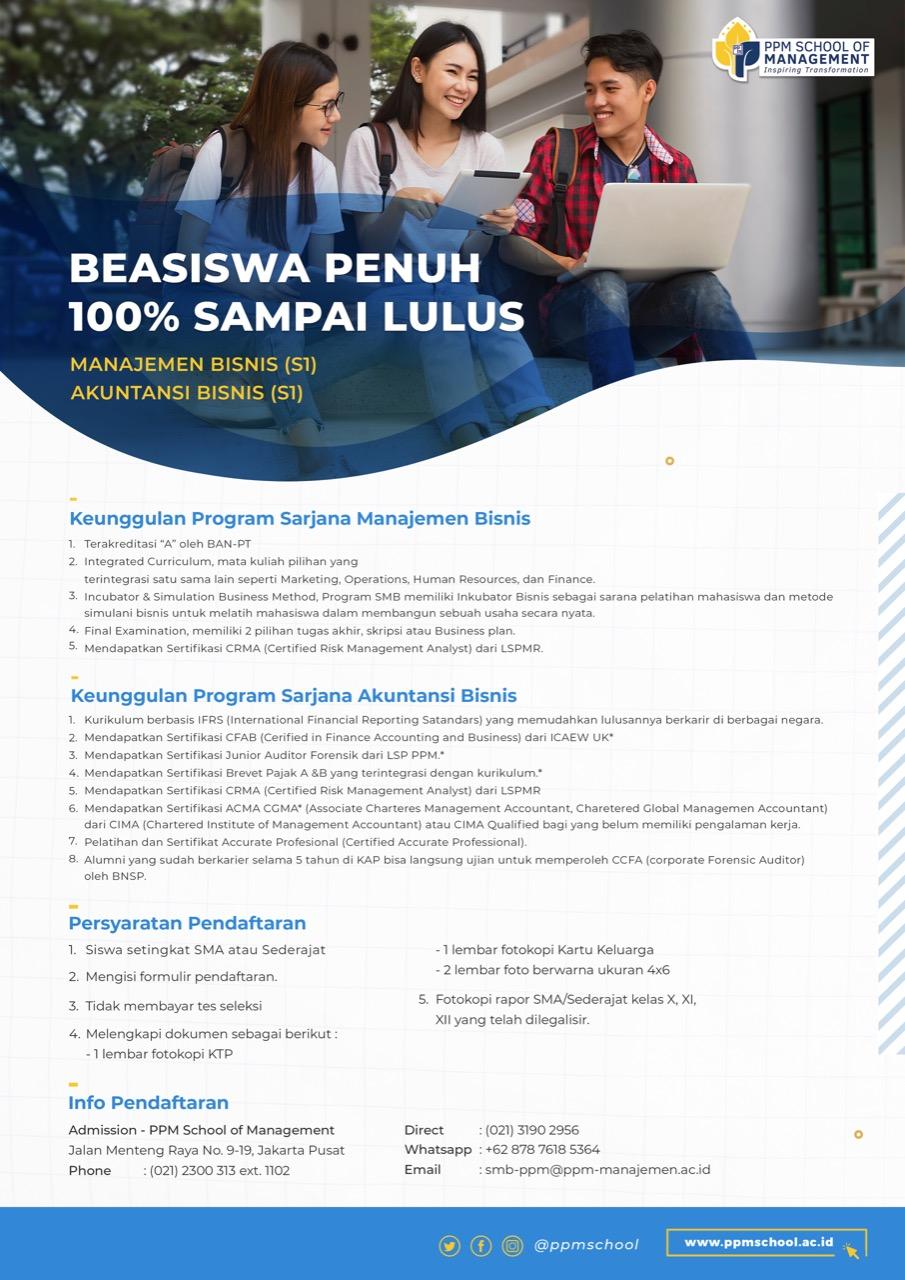 beasiswa S1 PPM